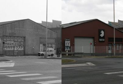 Le bâtiment du Chato'do vers 1981 et en avril 2016